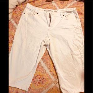 White denim Merona Crop denim Capri jeans